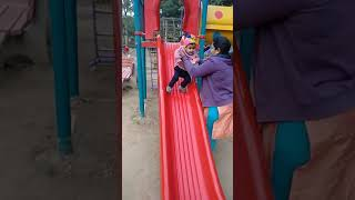 Malini on a slide