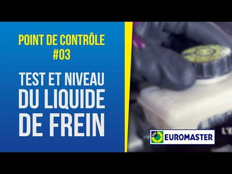 test et niveau du liquide de frein point de contr le 03 euromaster youtube. Black Bedroom Furniture Sets. Home Design Ideas
