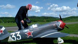 "RC Yakowlew Jak-11 400ccm Moki Ster/russisch Яковлев Як 11, NATO Codename ""Moose"""