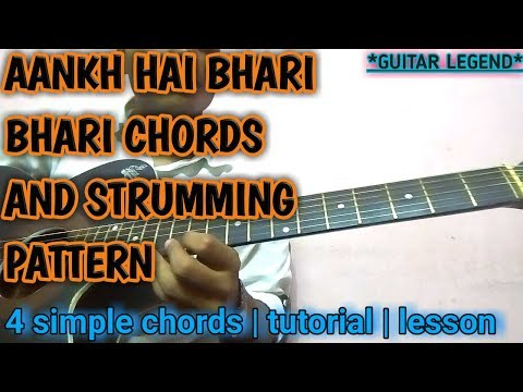 Aankh Hai Bhari Bhari Guitar LESSON Chords/strumming with lead