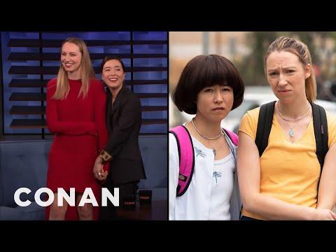 How Maya Erskine & Anna Konkle Transformed Into Awkward Teens - CONAN on TBS