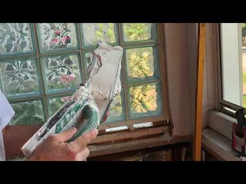 Installing glass block window