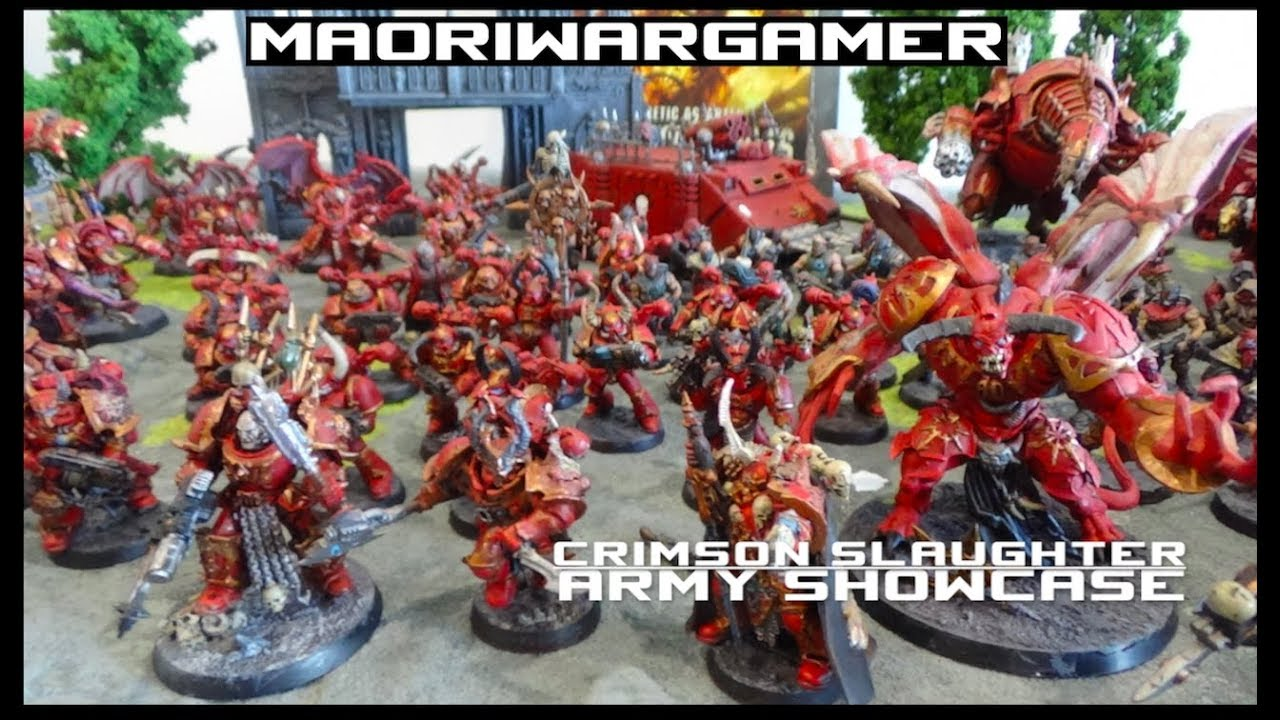 Army Showcase: Crimson Slaughter 2500 Points!