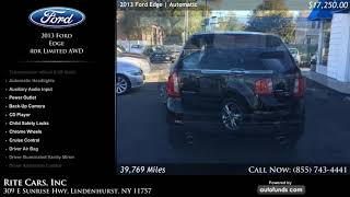 Used 2013 Ford Edge | Rite Cars, Inc, Lindenhurst, NY