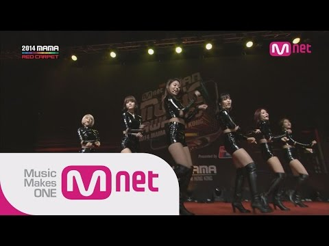 AOA - 짧은치마(Miniskirt) + 사뿐사뿐(Like a cat) at 2014 MAMA Red Carpet