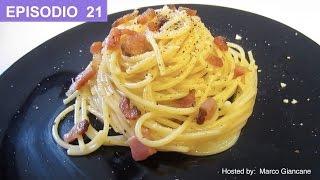 Video Spaghetti a la carbonara - Receta autentica italiana espagueti pasta ala carbonara. download MP3, 3GP, MP4, WEBM, AVI, FLV November 2017