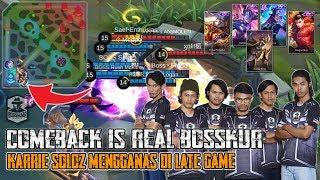 Epic Comeback Is Real Bosskur!! Soloz Guna Karrie, Fredo Lancelot!! Mobile Legends: Malaysia