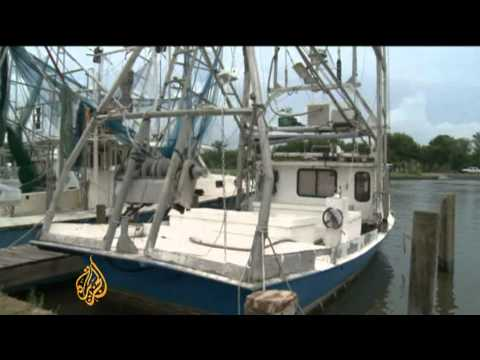 US  fishermen struggle amid oil clean up