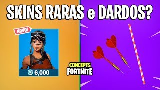 FORTNITE Concepts-BUY RARE SKINS and NEW DARTS?