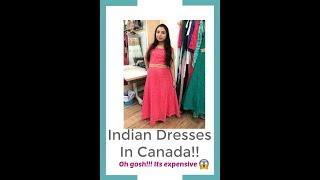 Indian Dresses in Canada   its so expensive   Canada Couple  Vlog