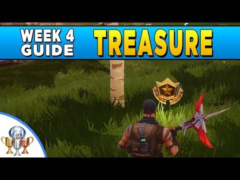 Fortnite Battlestar Treasure - Search Between A Gas Station, Soccer Pitch & Stunt Mountain Location