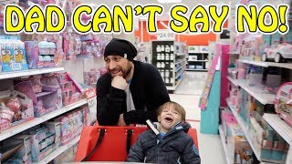 DAD CAN'T SAY NO! SHOPPING AT TARGET! DID WE FIND L.O.L. SURPRISE UNDERWRAPS WAVE 2?