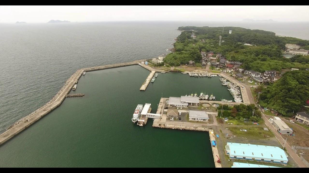 福岡にある貓島(藍島)の風景 - YouTube