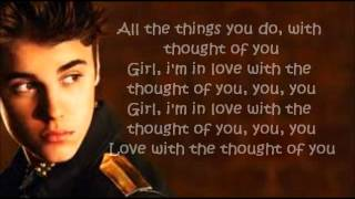 Justin Bieber - Thought of you Letra