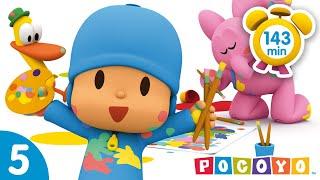 🏒POCOYO em PORTUGUÊS do BRASIL - Mil jogos divertidos [ 143 min ] | DESENHOS ANIMADOS para crianças