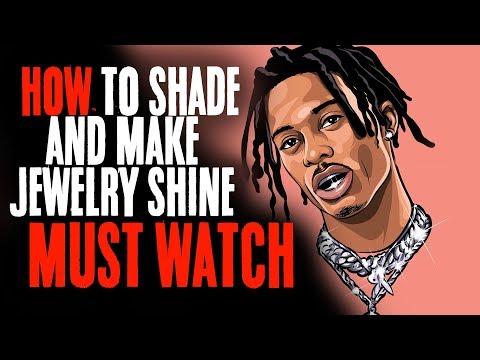 How To Shade And Make Jewelry Shine Must Watch !| Playboi Carti (Adobe Illustrator)