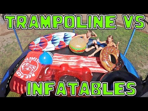 Thumbnail: TRAMPOLINE FILLED WITH INFLATABLE TOYS