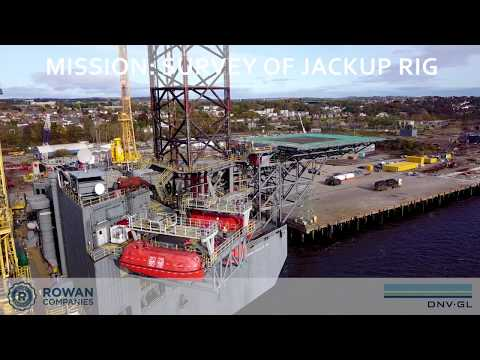 DNV GL drone inspection on the Rowan Gorilla VI