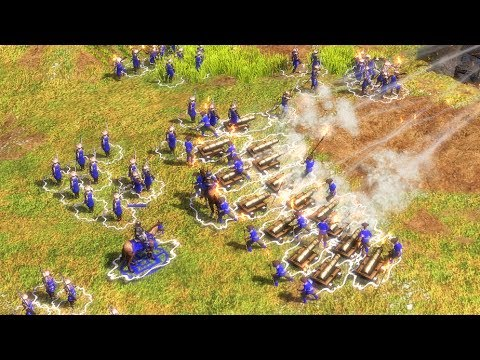 AOE3 世紀帝國3 日本vs法國 專家級+30% - YouTube