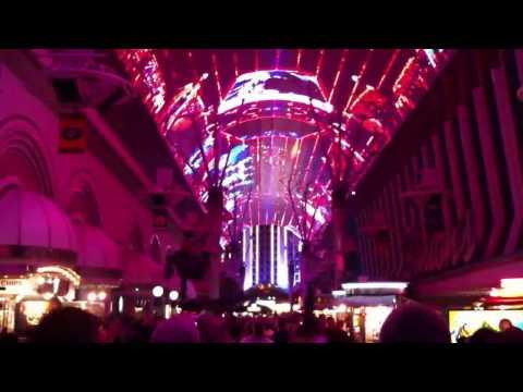 Fremont Street Experience with BON JOVI! - Las Vegas March 2012