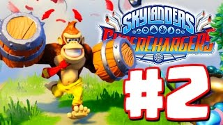 Skylanders Superchargers Gameplay Walkthrough Part 2  - Donkey Kong & Bowser - Chapter 4 5 6