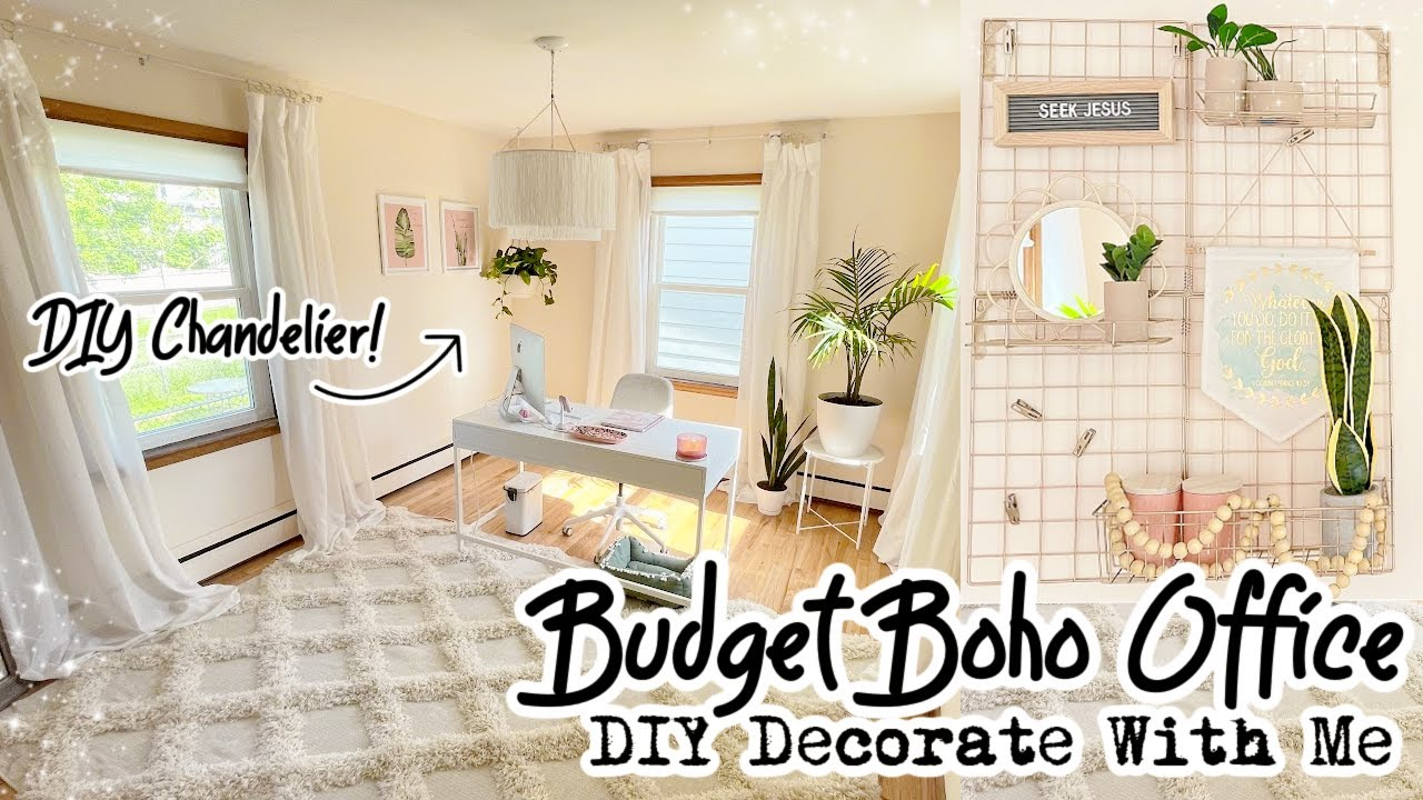 DIY BOHO Decor On A Budget Dream Office Makeover Decorate With Me