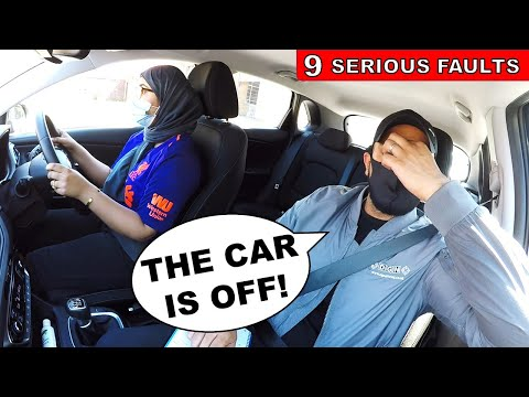 Learner Driver Forgets To Start Car On Driving Test