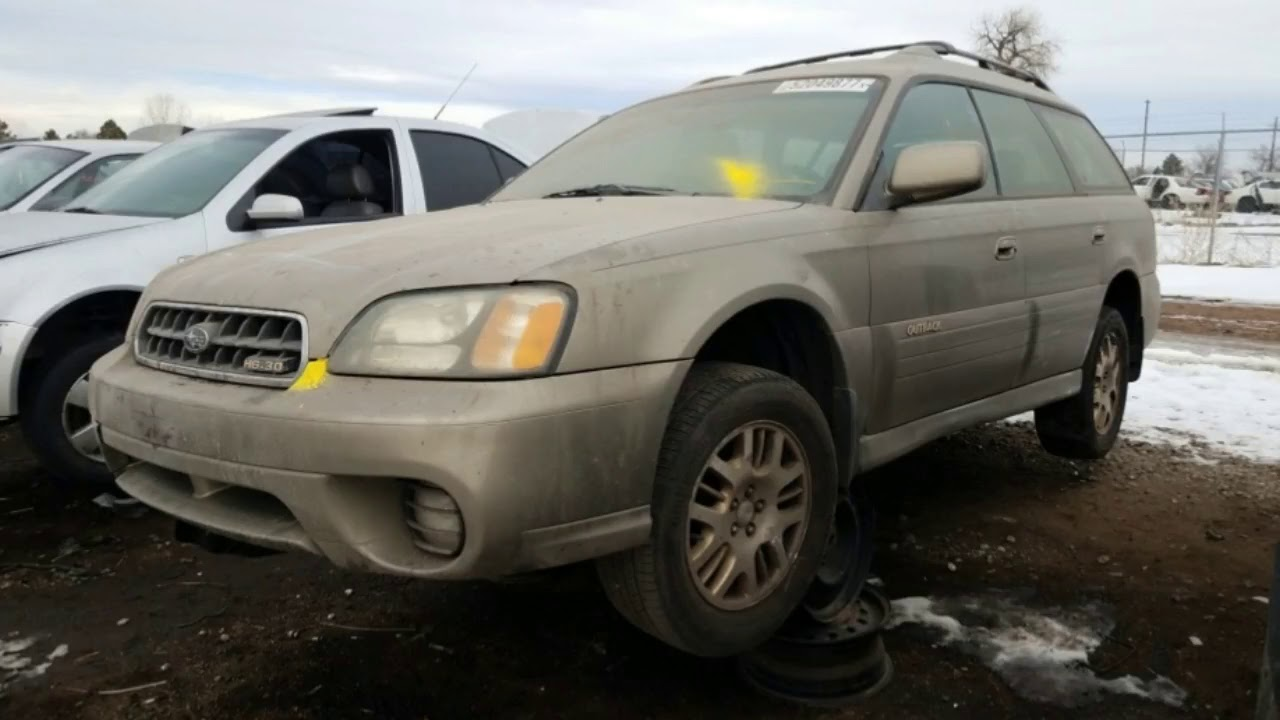 junkyard gem 2003 subaru legacy outback h6 3 0 youtube. Black Bedroom Furniture Sets. Home Design Ideas
