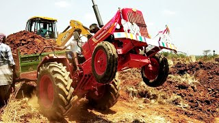 Mahindra 575 DI Tractor stunt with fully loaded trolley|Mahindra tractor power|CFV|