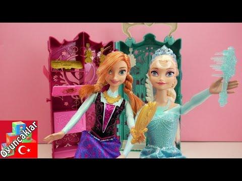 Karlar Ülkesi Frozen: Karlar Kraliçesi Elsa Ve Anna Için Dolap 2.Bölüm! - Oyuncak Bebek Tanıtımı!