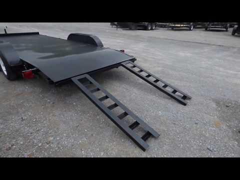 6.4'x18' Utility Diamond Steel  Flatbed Trailer
