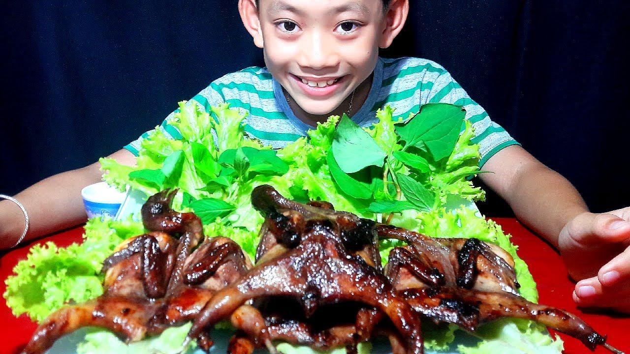 Hiếu hiếu vlog-Fried quail with garlic butter,cút chiên bơ tỏi. Hiếu nói chuyện cười sặc sụa