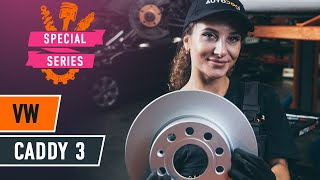 How to replace Brake rotors VW CADDY III Box (2KA, 2KH, 2CA, 2CH) Tutorial