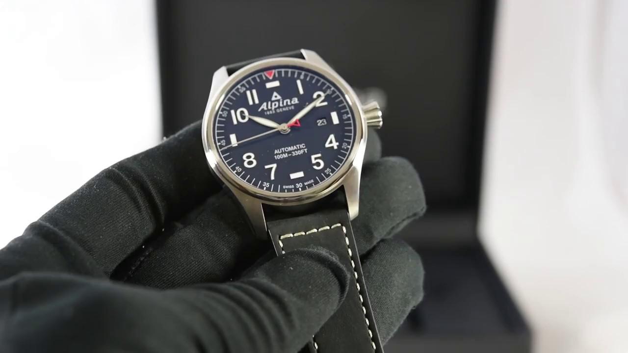 Alpina Startimer Pilot Automatic ALNNS YouTube - Alpina automatic watch