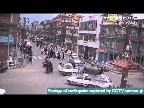 Nepal earthquake captured on CCTV   The Sydney Morning Herald   smh com au