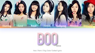 APINK (에이핑크) Boo Color Coded Lyrics (Han/Rom/Eng)