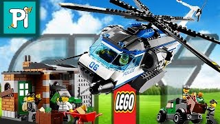 Лего сити полицейский патрульный вертолет / Как сделать лего вертолет / Лего сити 60046