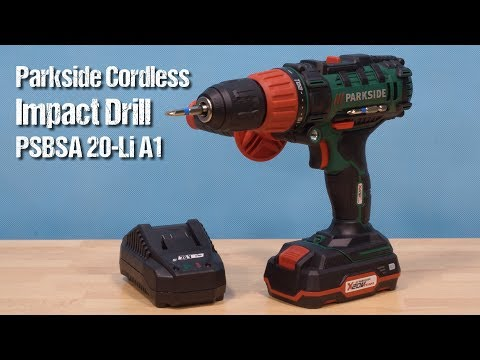 c4e94e1976f06 Parkside Cordless Impact Drill PSBSA 20-Li A1 ~ unboxing & review ~ Česky  ᴴᴰ - YouTube