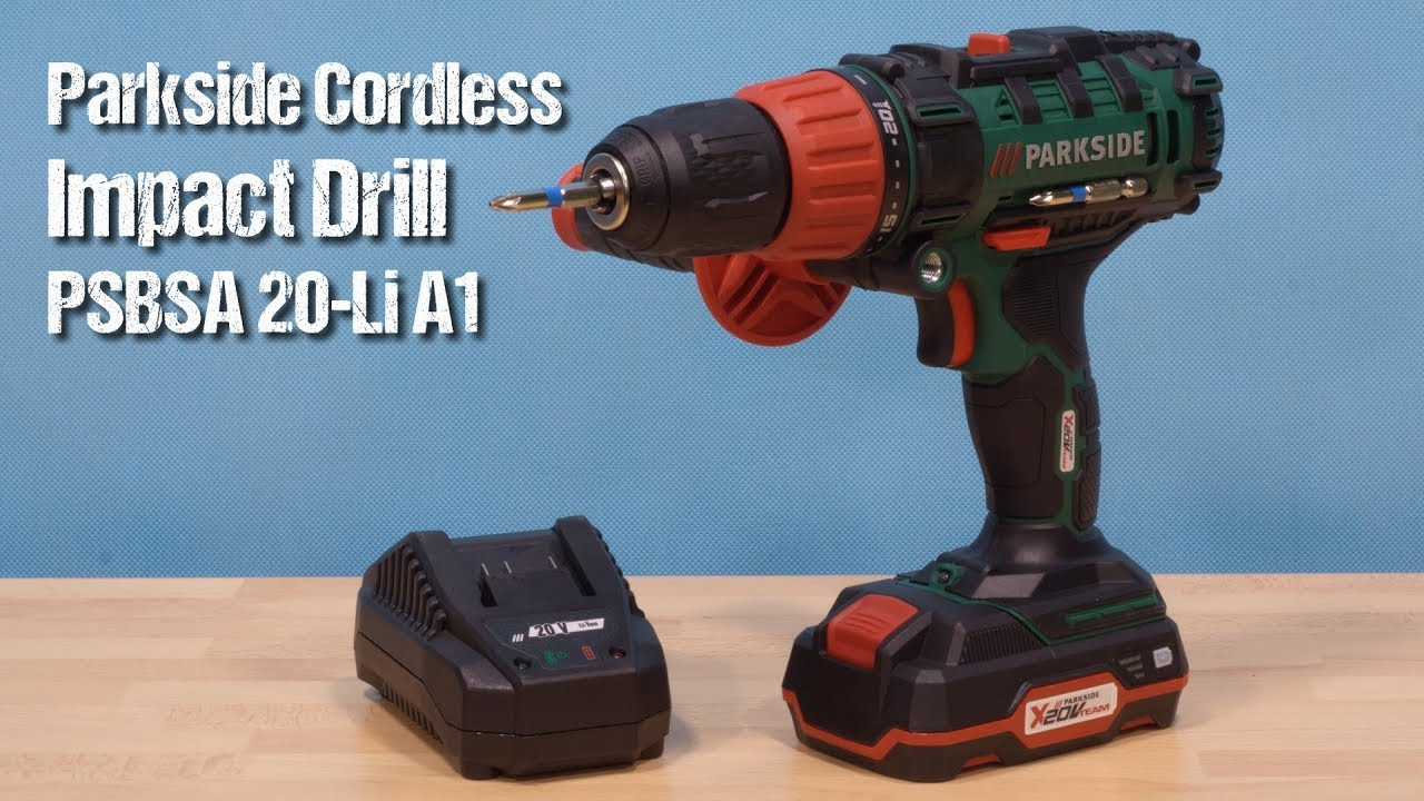 794c87f58c887 Parkside Cordless Impact Drill PSBSA 20-Li A1 ~ unboxing & review ~ Czech ᴴᴰ