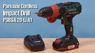 Parkside Cordless Impact Drill PSBSA 20-Li A1 ~ unboxing & review ~ Česky ᴴᴰ