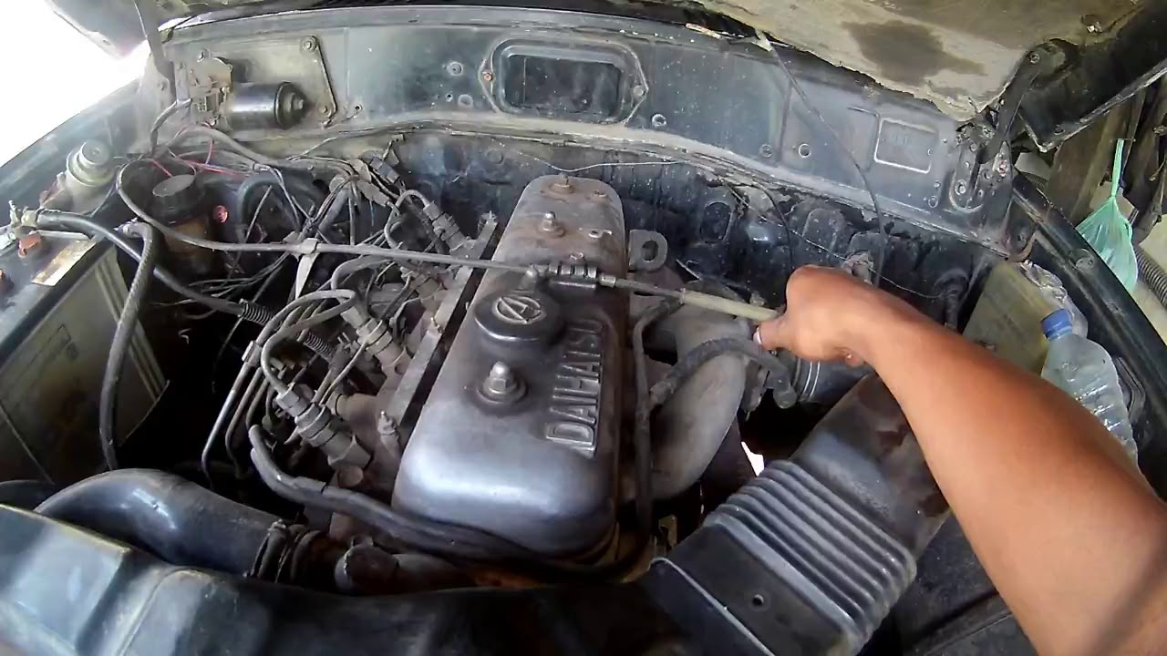 Old Diesel Engine Cold Start - Daihatsu F70 1987