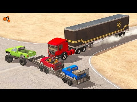Beamng drive - Cars Trailers Сrashes (Box Utility crashes, update 0.10)