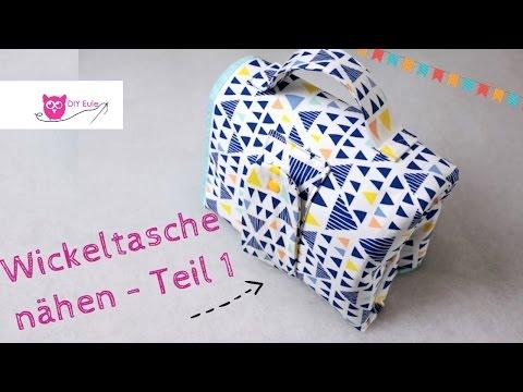 Kombinierte Wickeltasche / Windeltasche mit Unterlage selber nähen #Teil 1 – DIY Eule