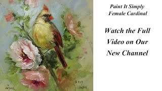 Fine Art of Decorative Painting- Female Cardinal, Paint It Simply