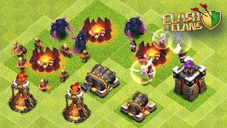 TESTEI AS NOVAS TROPAS E DEFESAS DO CLASH OF CLANS