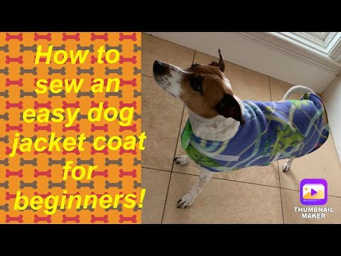 How To Sew An Easy Dog Fleece Jacket Coat For Beginners Sewing Tutorial
