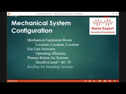 Mechanical Noise Webinar - Sound Noise Acoustics, engineering, acoustical consulting