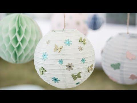 DIY : Create 'hygge' with rice paper lanterns by Søstrene Grene