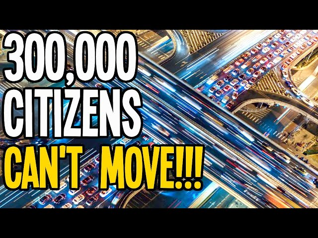 Industry Traffic so Bad the 300,000 Citizens Can't Move in Cities Skylines!