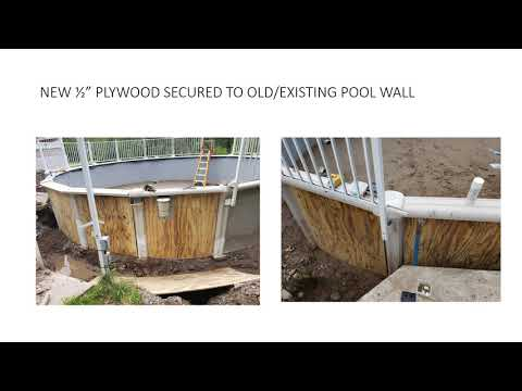 24' ABOVE GROUND POOL WALL REPAIR AND NEW LINER